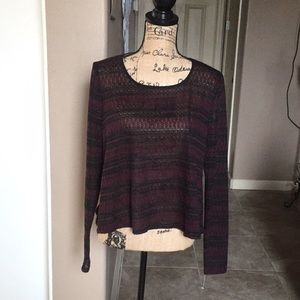 maurices Black and burgundy